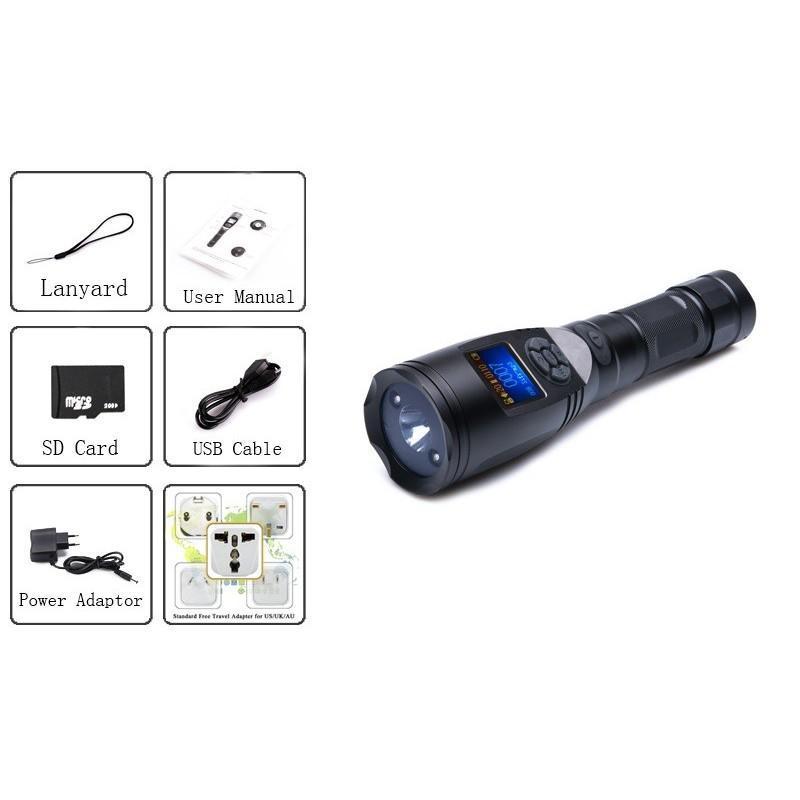 Электронный манок-фонарик для охотников, фотографов и разведчиков (3x CREE XR-E Q5 LED, 110 голосов птиц, MP3, 120dB) 190049