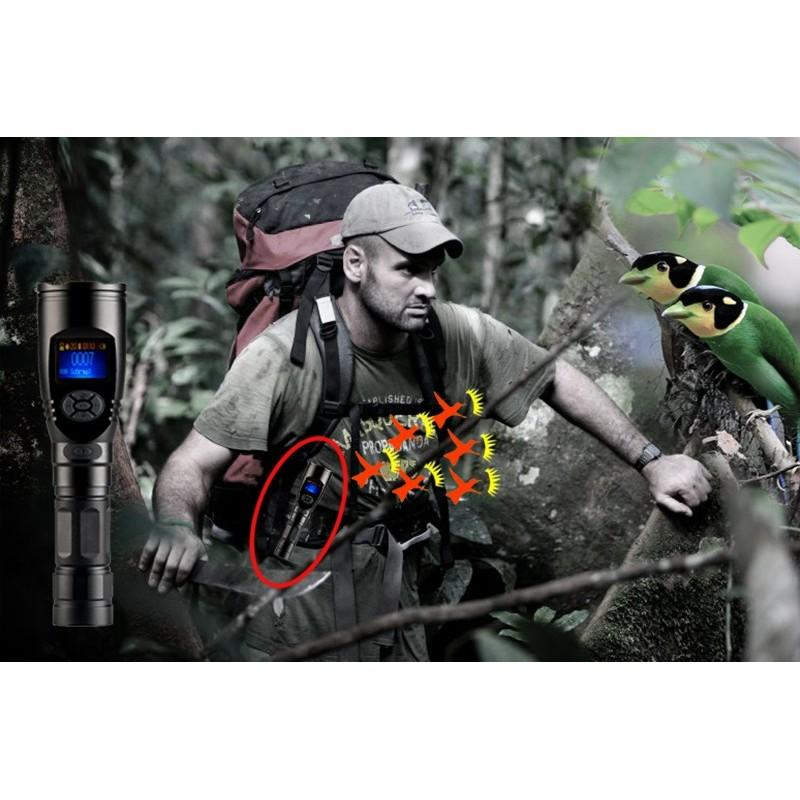 Электронный манок-фонарик для охотников, фотографов и разведчиков (3x CREE XR-E Q5 LED, 110 голосов птиц, MP3, 120dB) 190054