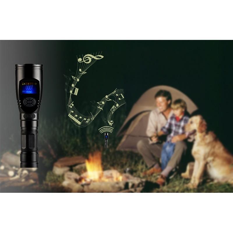 Электронный манок-фонарик для охотников, фотографов и разведчиков (3x CREE XR-E Q5 LED, 110 голосов птиц, MP3, 120dB) 190057
