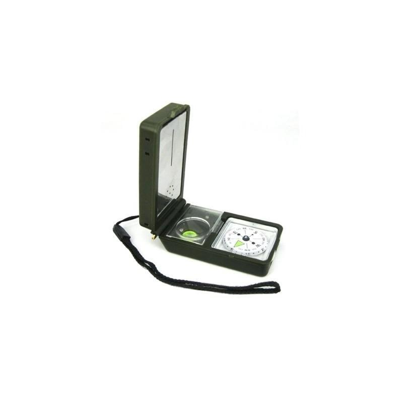 Многофункциональный портативный компас 10 в 1 (термометр, гигрометр, фонарь, отражатель, спиртовой уровень,  кремень) 190075