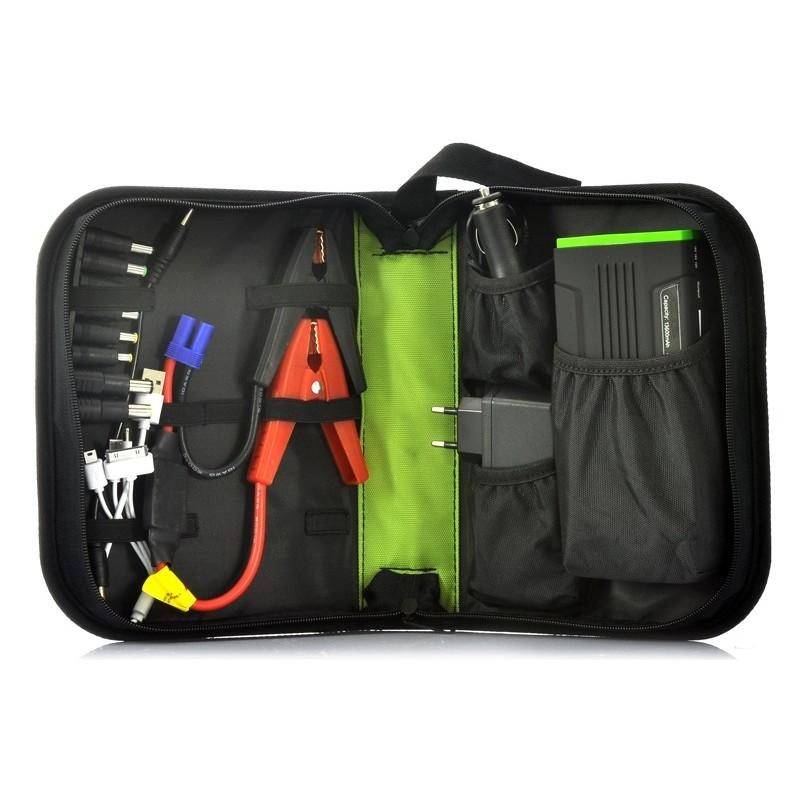 Внешний аккумулятор для ноутбуков, iPad, iPhone, планшетов, телефонов  + пусковое устройство для автомобиля, 12800 мАч, MDA-332