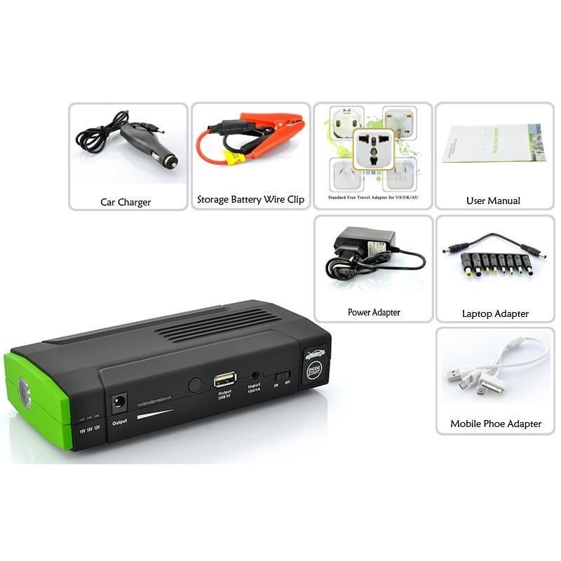Внешний аккумулятор для ноутбуков, iPad, iPhone, планшетов, телефонов  + пусковое устройство для автомобиля, 12800 мАч, MDA-332 190097