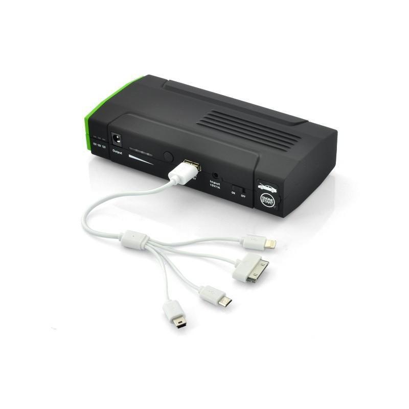 Внешний аккумулятор для ноутбуков, iPad, iPhone, планшетов, телефонов  + пусковое устройство для автомобиля, 12800 мАч, MDA-332 190100