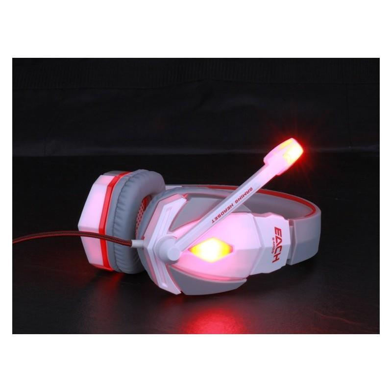 Игровые наушники Flymemo Kotion Each G4000 Pro Gaming с микрофоном, шумоподавление, подсветка, 2.2 м. 185044
