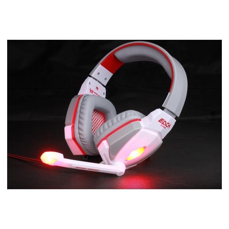 Игровые наушники Flymemo Kotion Each G4000 Pro Gaming с микрофоном, шумоподавление, подсветка, 2.2 м. 185045