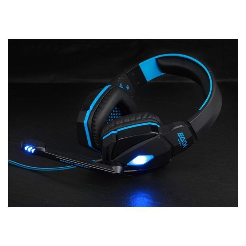 Игровые наушники Flymemo Kotion Each G4000 Pro Gaming с микрофоном, шумоподавление, подсветка, 2.2 м. 185048