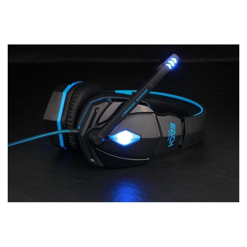 Игровые наушники Flymemo Kotion Each G4000 Pro Gaming с микрофоном, шумоподавление, подсветка, 2.2 м. 185049