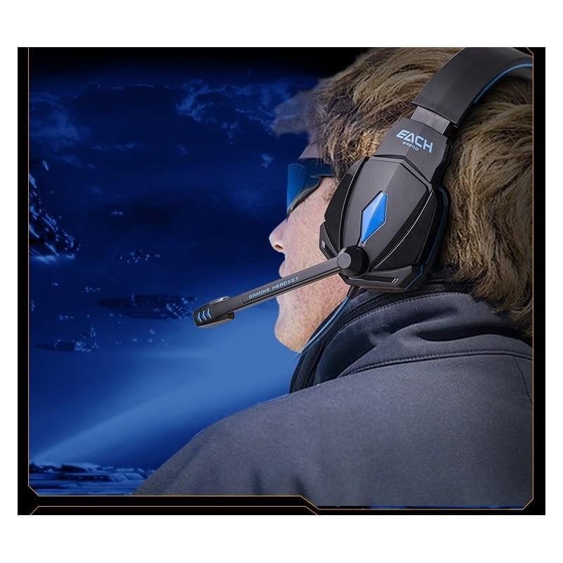 Игровые наушники Flymemo Kotion Each G4000 Pro Gaming с микрофоном, шумоподавление, подсветка, 2.2 м. 185051