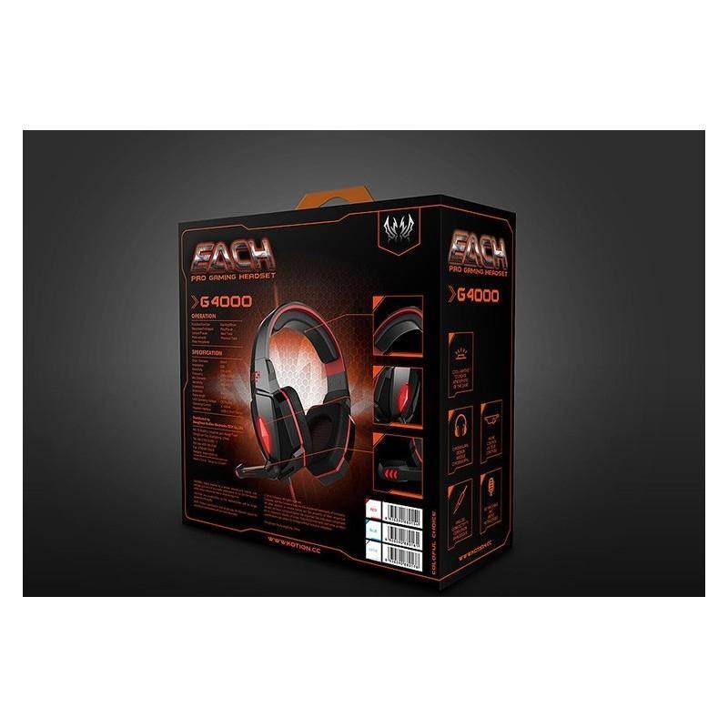 Игровые наушники Flymemo Kotion Each G4000 Pro Gaming с микрофоном, шумоподавление, подсветка, 2.2 м. 185052
