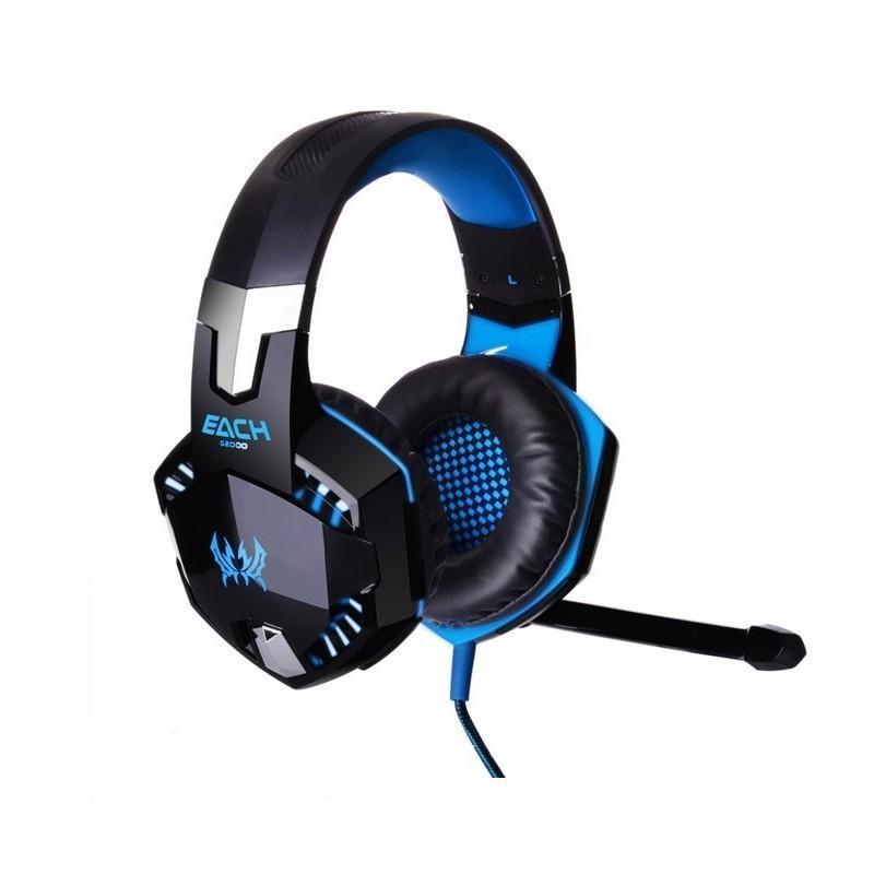 Игровые наушники Kotion Each G2000 Pro Gaming (Original) с микрофоном, шумоподавление, кабель 2.2 м, светодиодная подсветка 185000