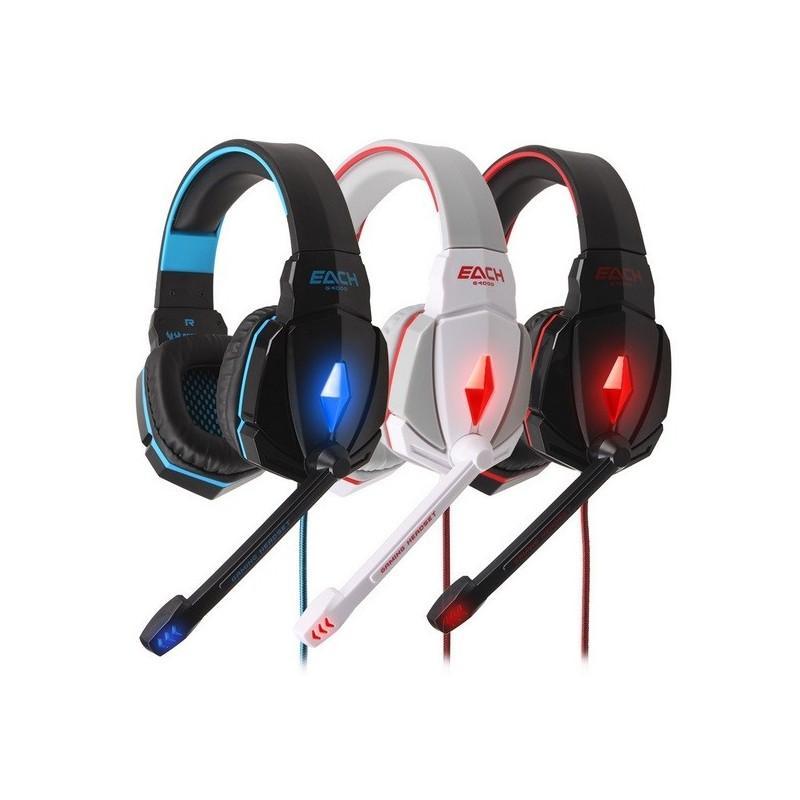 Игровые наушники Flymemo Kotion Each G4000 Pro Gaming с микрофоном, шумоподавление, подсветка, 2.2 м. 185053