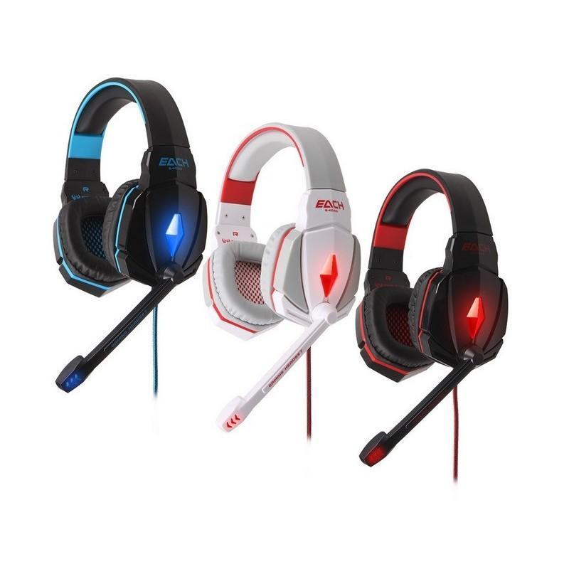 Игровые наушники Flymemo Kotion Each G4000 Pro Gaming с микрофоном, шумоподавление, подсветка, 2.2 м. 185054
