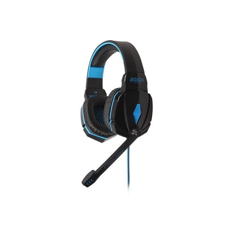 Игровые наушники Flymemo Kotion Each G4000 Pro Gaming с микрофоном, шумоподавление, подсветка, 2.2 м. 185055