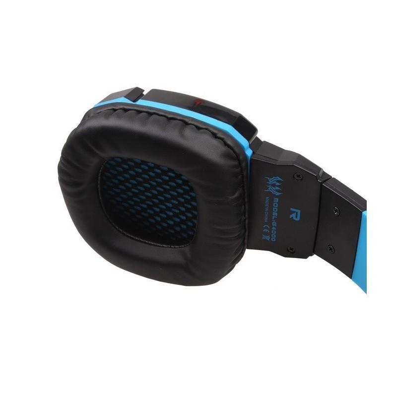 Игровые наушники Flymemo Kotion Each G4000 Pro Gaming с микрофоном, шумоподавление, подсветка, 2.2 м. 185060