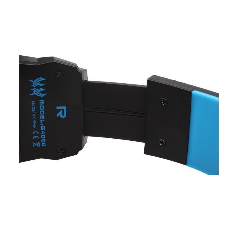 Игровые наушники Flymemo Kotion Each G4000 Pro Gaming с микрофоном, шумоподавление, подсветка, 2.2 м. 185061