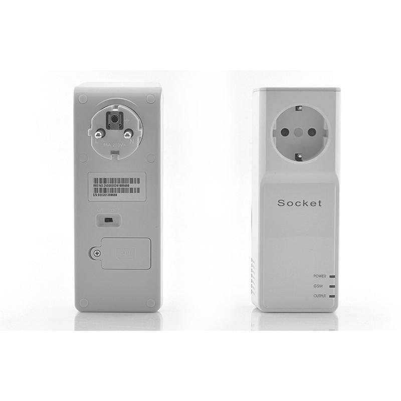 Электророзетка с дистанционным GSM-управлением – 5 пользователей, датчик температуры, евростандарт 190362
