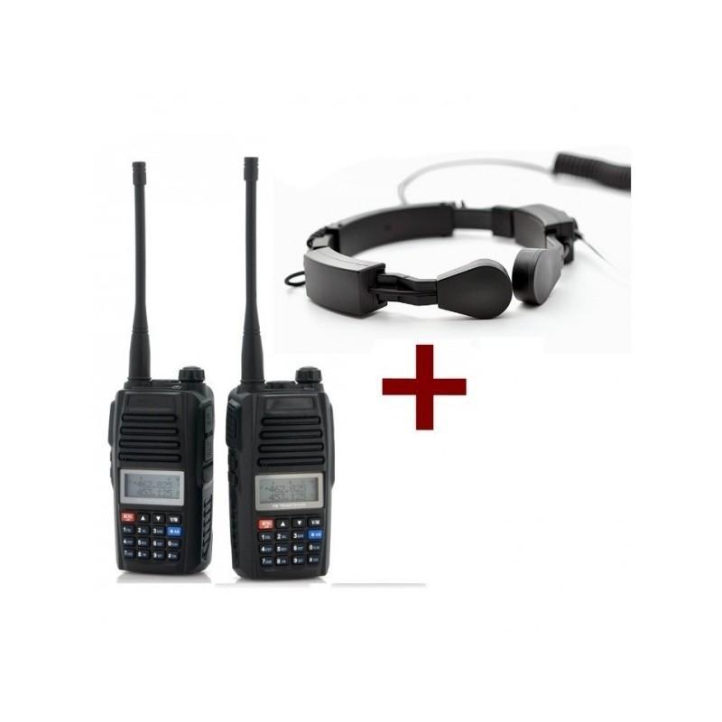 Комплект:  2 рации Walkie Talkie + 2 ларингофона А60