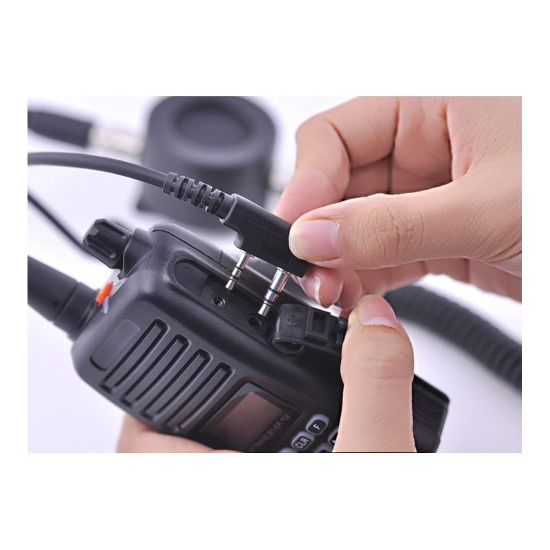 Ларингофон (горловой микрофон) для раций Walkie Talkie А60 (две кнопки PTT+прозрачные наушники) 190375