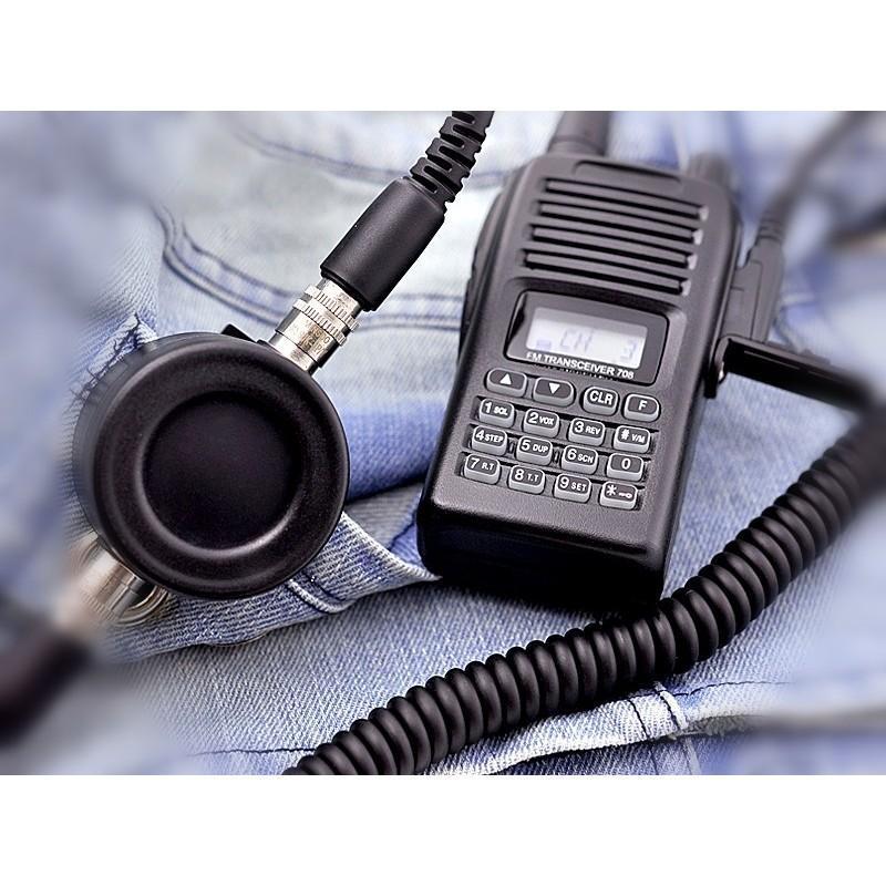 Ларингофон (горловой микрофон) для раций Walkie Talkie А60 (две кнопки PTT+прозрачные наушники) 190379
