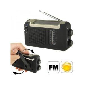 Автономный AM/FM радиоприёмник на солнечных батареях ( + с зарядкой от динамо-машины или USB, выдвижной антенной)