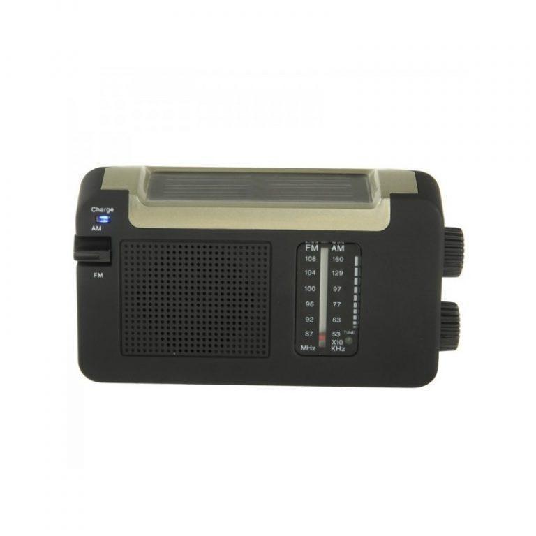 8976 - Автономный AM/FM радиоприёмник на солнечных батареях ( + с зарядкой от динамо-машины или USB, выдвижной антенной)