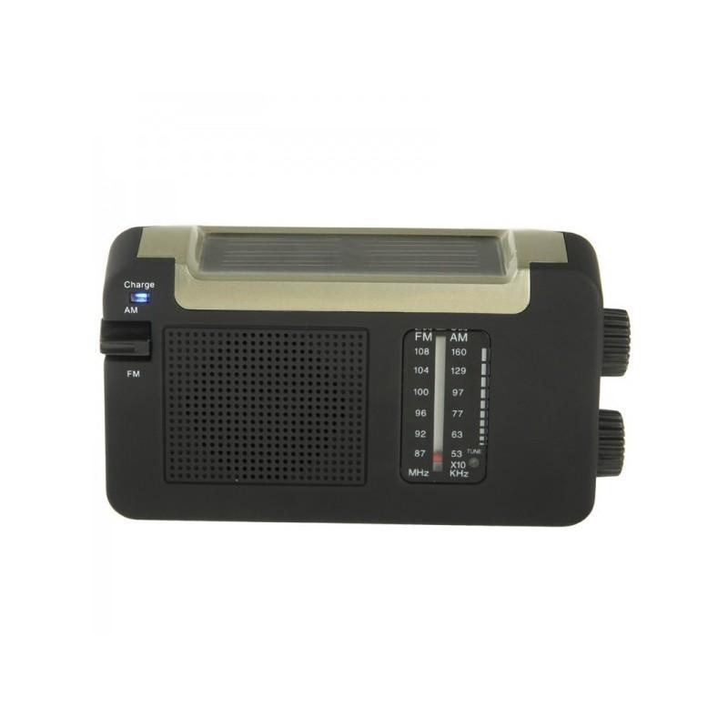 Автономный AM/FM радиоприёмник на солнечных батареях ( + с зарядкой от динамо-машины или USB, выдвижной антенной) 190449