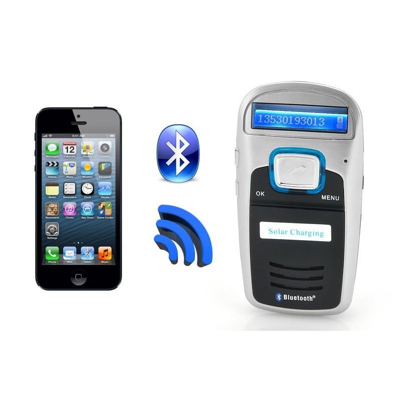 Автомобильный Bluetooth комплект громкой связи/ FM-передатчик/MP3 с зарядкой от солнца 190668