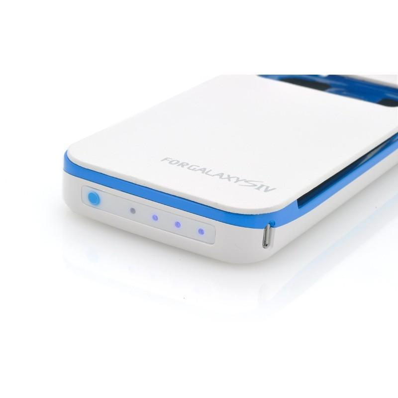 Внешняя батарея/чехол-книжка с защитой экрана для Samsung Galaxy S4 190704