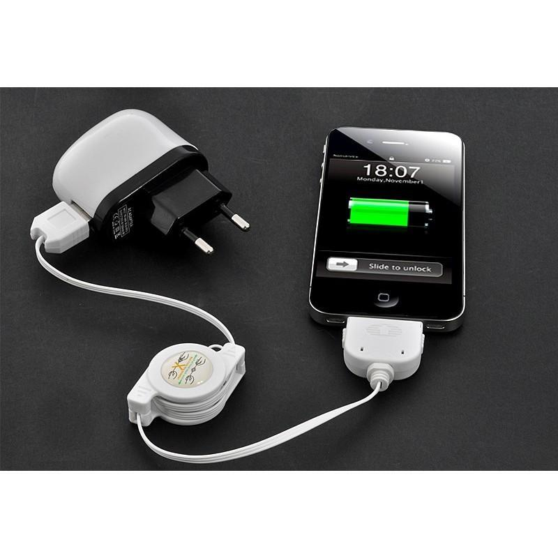 Зарядное устройство+USB-адаптер+автомобильная зарядка для iPhone, IPod, IPad 190721