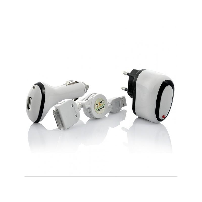 Зарядное устройство+USB-адаптер+автомобильная зарядка для iPhone, IPod, IPad 190726