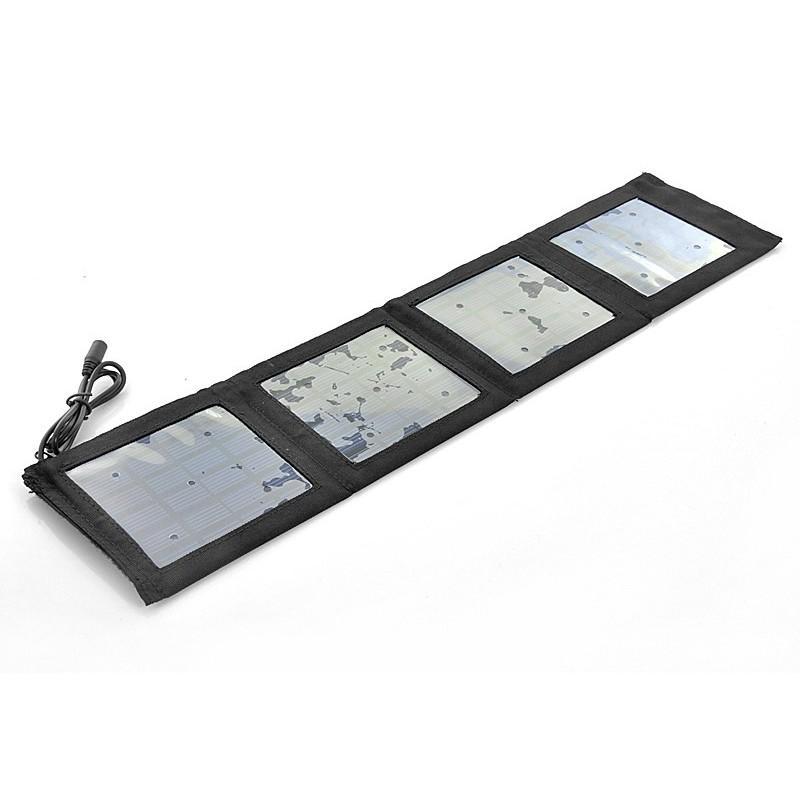 Маленькая раскладная солнечная зарядка + алюминиевый аккумулятор на 4000 мАч SolarJet S52 (micro USB,mini USB,USB,Nokia,Samsung)