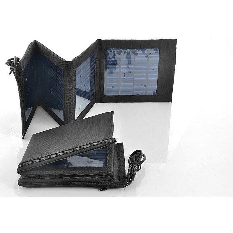 Маленькая раскладная солнечная зарядка + алюминиевый аккумулятор на 4000 мАч SolarJet S52 (micro USB,mini USB,USB,Nokia,Samsung) 190727