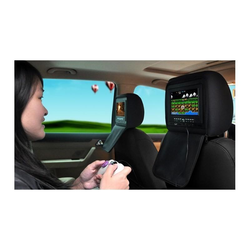 Пара автомобильных 7-дюймовых мониторов в подголовник – DVD, игровые приставки, мультимедийные комбайны 190741