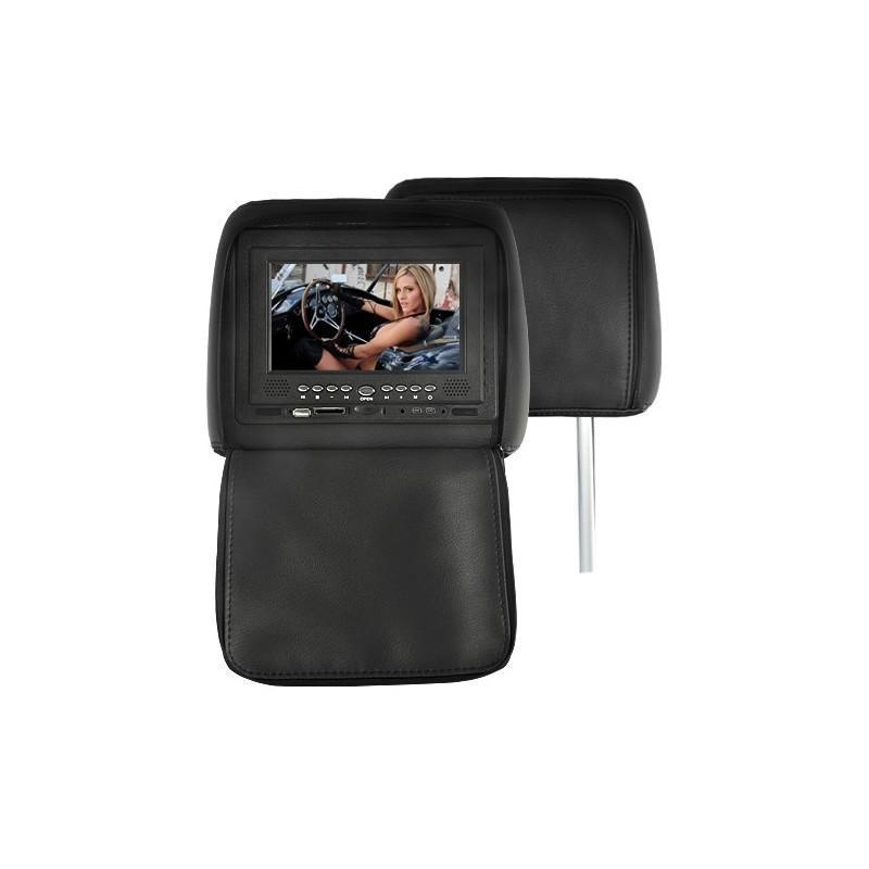 Пара автомобильных 7-дюймовых мониторов в подголовник – DVD, игровые приставки, мультимедийные комбайны 190745