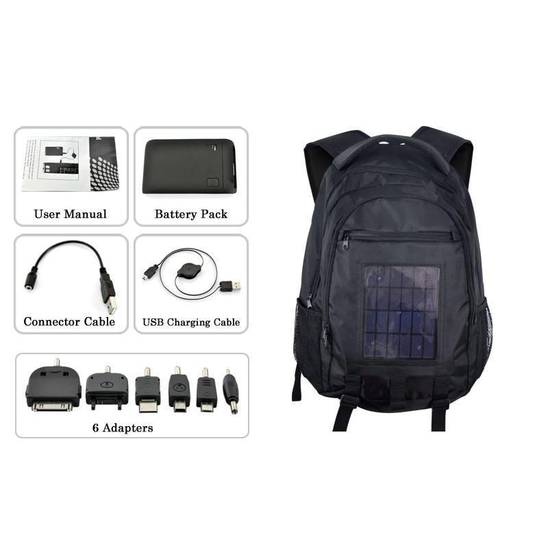 Рюкзак с солнечной батареей + аккумулятор 2200 мАч SolarBag S53 190771