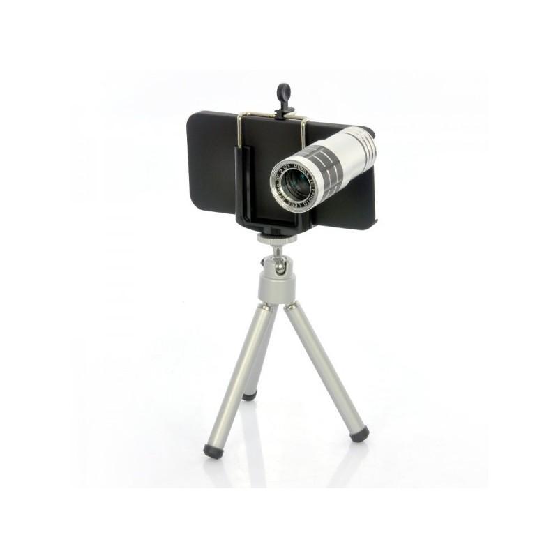 Телескопический объектив для iPhone 5 (12х оптический зум) + портативный штатив A187 190784