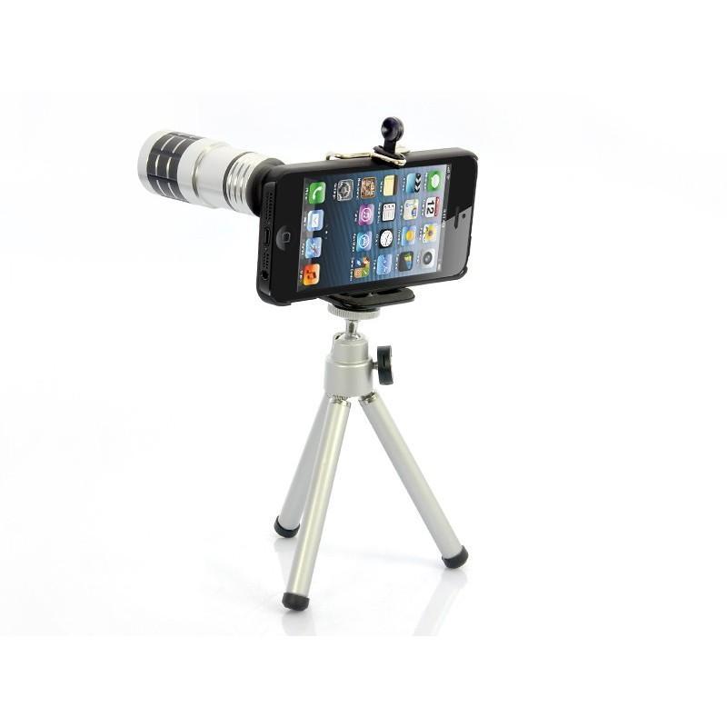 Телескопический объектив для iPhone 5 (12х оптический зум) + портативный штатив A187 190785