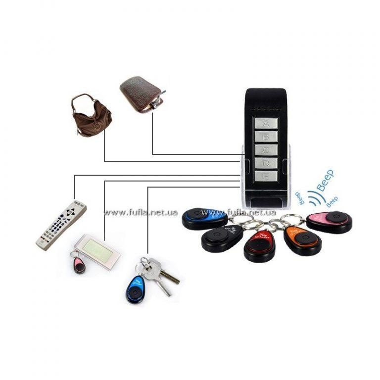9929 - Множественный брелок для поиска ключей (Key Finder) - 5 брелков