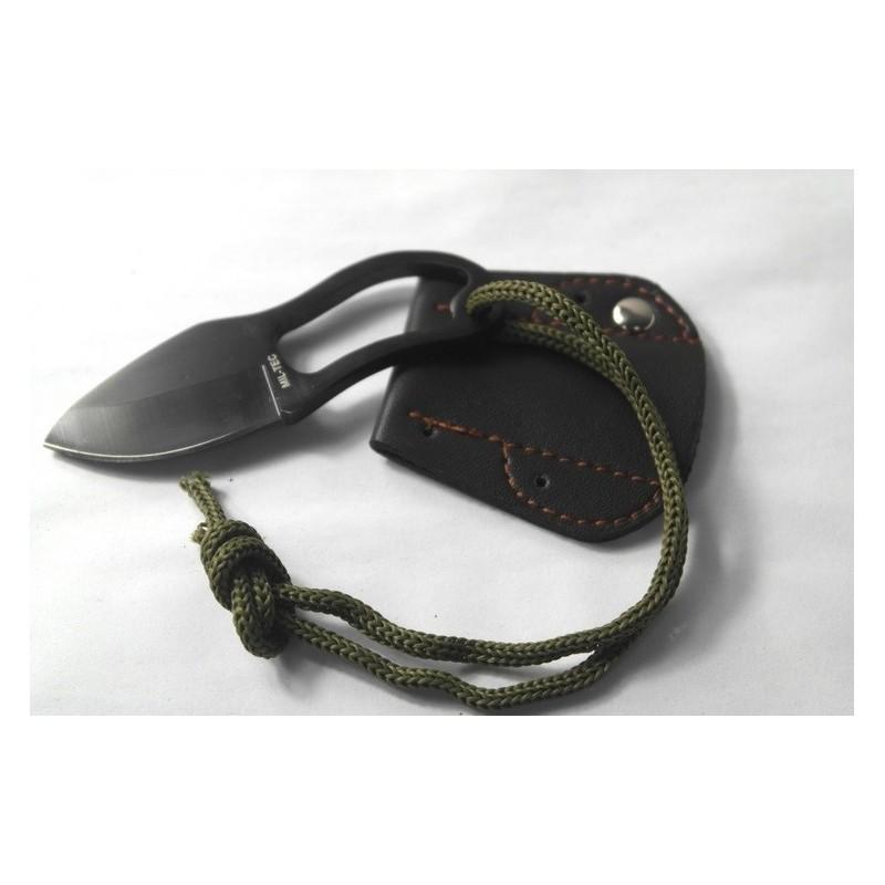 Швейцарский нательный нож-коготь Mil-Tec (в кожаных ножнах) 184061